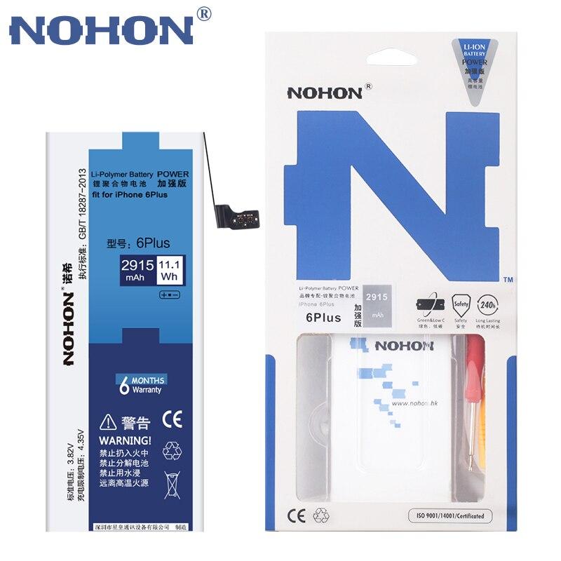 imágenes para NOHON Batería de Repuesto para Apple iPhone 6 Plus 6 P 6 Más Capacidad 3.82 V 2915 mAh li-polymer built-in Batería de Litio Con Herramientas