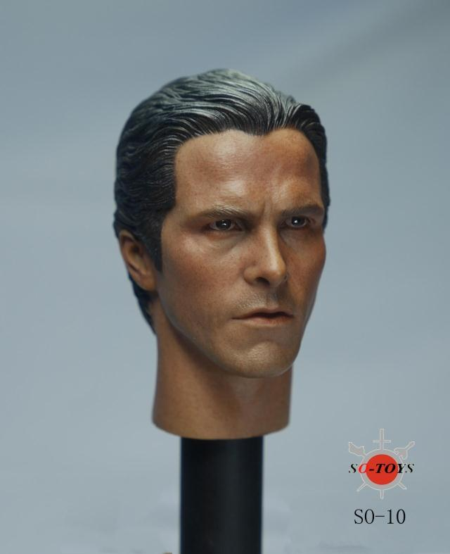 1/6 Scale Batman Christian Bale Head Sculpt SO-010 Male Head Carving For 12 Body Figures Collections 1 6 male head sculpt old logan head carving for 12 muscular body figure collections