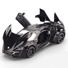 1:32 Scale Simulation Fast Lykan Super Racing Car Model Furious Diecast Vehicle Toys With Hot Alloy Auto Wheels Sport Car Toy 1 10 scale alloy diecast racing bike w basket