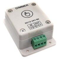 D8 ledストリップ調光器〜dc24v 8aタッチセンサー調光ledコントローラledストリップライト