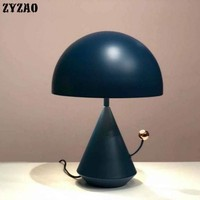 Simple Personality Nordic Living Room Table Lamp Study Children's Room Office Bedroom Bedside Lamp Iron Art Deco Nightstand Lamp
