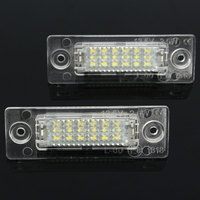 2 PCS Rear Bit Decode LED Number License Plate Light For Volkswagen Skoda Superb