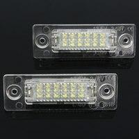 2 PCS Rear Bit Decode LED Number License Plate Light For Volkswagen Skoda Superb