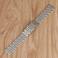 Women 20/22/24mm + 2 Spring Bars Watchband Men Bracelet Watch Band Strap Luxury Replacement Silver Stainless Steel