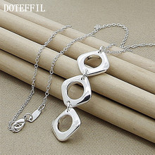 925 Silver Color Jewelry Brand Charm Necklaces Pendants For Men Women With Chain New Fashion Statement Necklace(China)