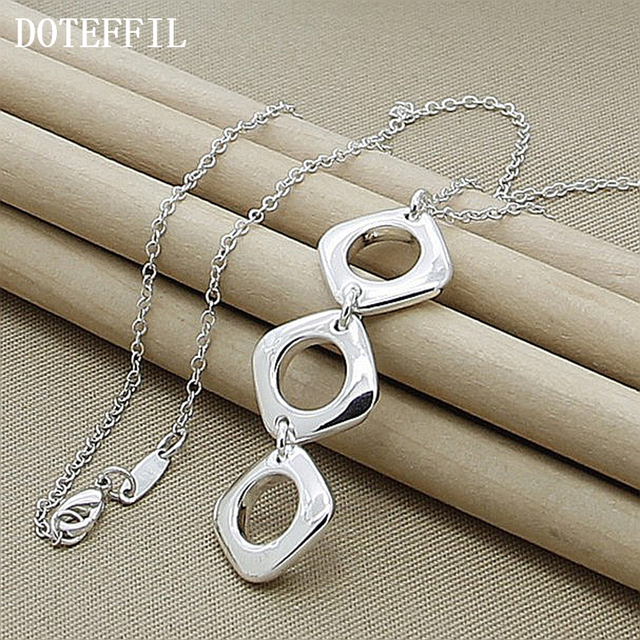 925 Sterling Silver Jewelry Brand Charm Necklaces Pendants For Men Women With Chain New Fashion Statement Necklace