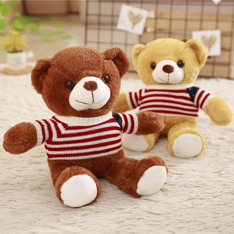 30CM Cute Lovely Teddy Bear Plush Toys Stuffed Soft Animal Bear with Clothes Kawaii Dolls for Kids Baby Children Valentine GiftsStuffed & Plush Animals