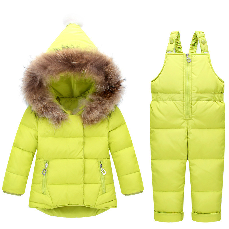 Winter Baby Girls Jumpsuit New Fashion Fur Hooded White Duck Down Coat+thick Parka Pants 2pcs Snowsuit Childrn Clothing Outwear смартфон highscreen power ice max gold