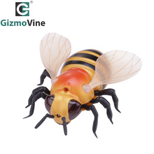 GizmoVine Toy Electric RC Bee Novelty Fake Insect Remote Control Animal Toy Funny Prank joke For Party Halloween Present For Kid