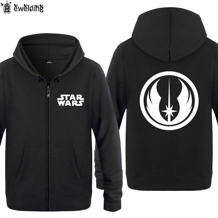 Толстовки с капюшоном на молнии Для мужчин Star Wars Jedi заказ Винтаж печатных Для мужч ...