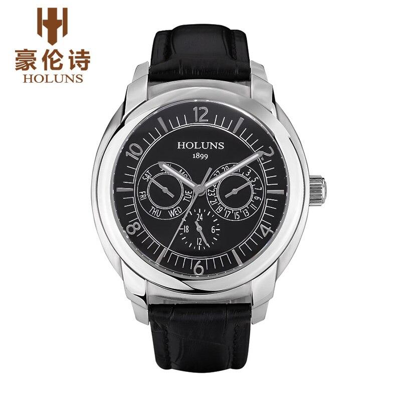 HOLUNS CS002 Watch Geneva Brand watches font b men s b font multifunction dual business calendar