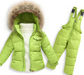 En Ji Ka children boys and girls down jacket suits overalls suit jacket thickened infant baby