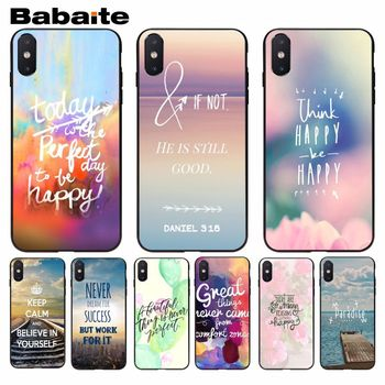 Babaite Word Pattern Quotes Exquisite Phone Case For iphone 8 8plus and 7 7plus 6s 6s Plus 6 6plus 5s Cellphones image