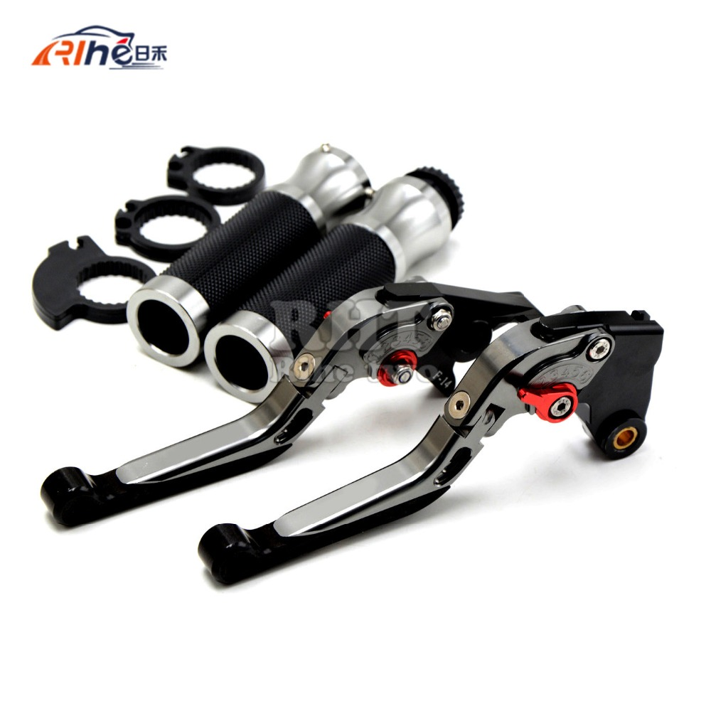 HOT  High Quality Motorbike CNC Adjust titanium  Brake Clutch Lever  Handle bar for  Honda CBR250R CBR300R CB300F CBR500R CB500F left clutch brake lever assy and front brake handle bar suit for cf650nk cfmoto parts code is a000 100200 a000 080113