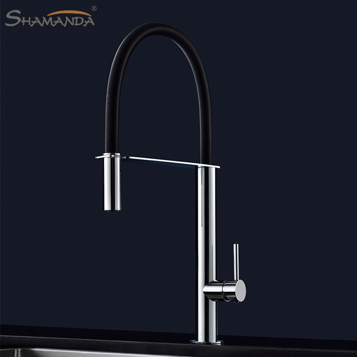 Free Shipping Brass Cold and Hot Water Miexer Kitchen Faucet Pull Out Spring Faucet 360