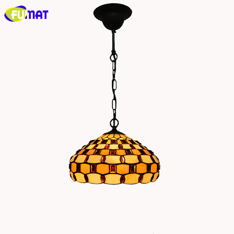 Tiffany Pendant Light Classic Vintage Restaurant Living Room Kitchen Suspension Lightings Stained Glass Beads Lights Lamp tiffany baroque retro stained glass pendant light restaurant bedroom living room corridor porch lamp