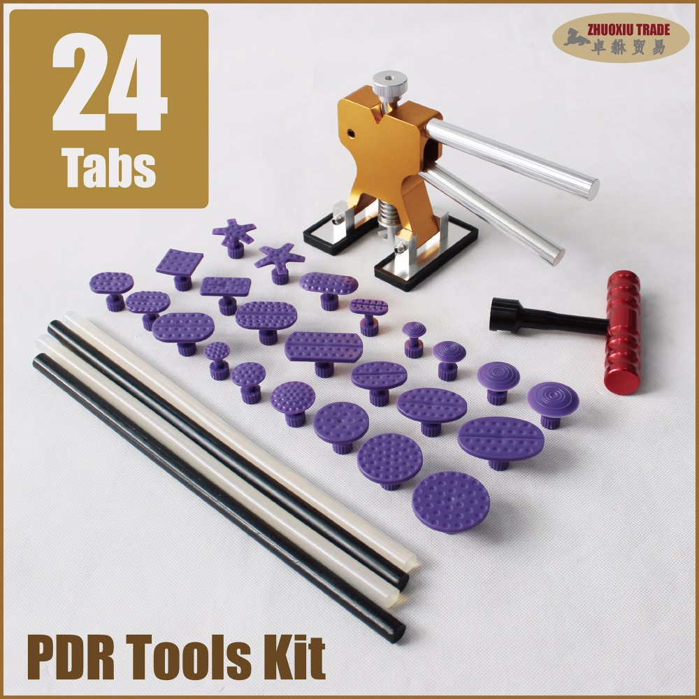 pdr tools kit dent puller car body repair removal set minilifter t bar suction cup glue tabs pulling removing remover lifter pdr dent lifter kit red puller t bar glue with glue puller tabs
