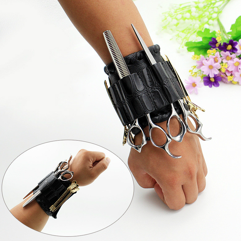 New Hook And Loop Trend Hairdresser Wrist Bag Barber Scissors Kit Hair Tools A Generation Of Hair
