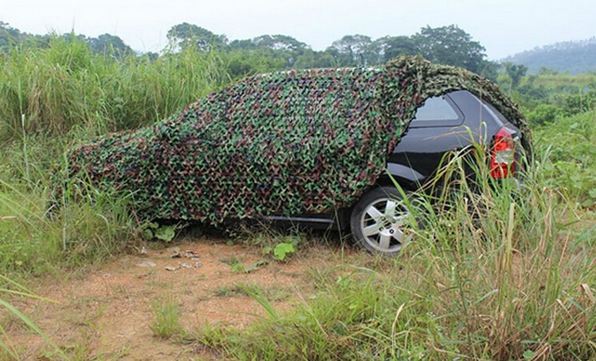 Camouflage shade net, individual tactics camouflage net, outdoor camping simple awnings