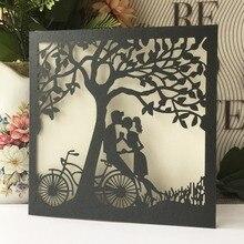 20 шт./лот уникальный дизайн дерева лазерная резка, для свадьбы Пригласительные открытки события и вечерние поздравительные открытки