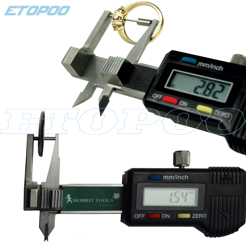 0 25mm Mini Pocket Digital Jewel Gem Gemstone Thickness Gauge Caliper Diamond thickness caliper guage measure