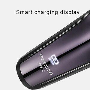 Image 3 - FLyco Afeitadora eléctrica con cabezales flotantes 3D para hombre, máquina de afeitar eléctrica con pantalla de carga LED, lavable, FS372