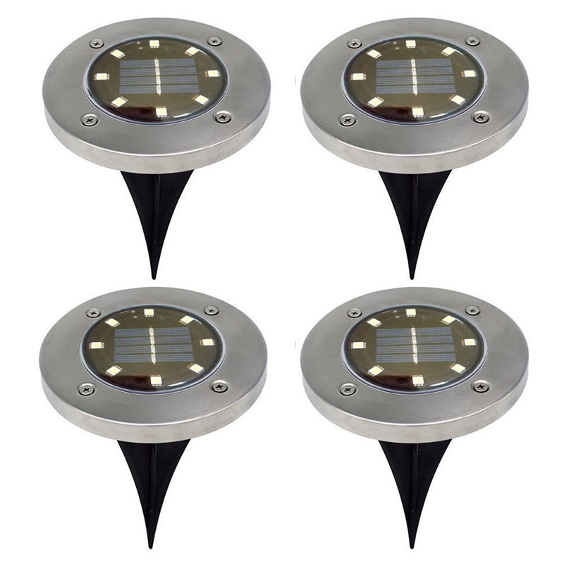 4Pcs Waterproof LED Solar Underground Lights Stainless Steel Outdoor Solar Buried Floor Light Outdoor Garden Path Ground Lamp4Pcs Waterproof LED Solar Underground Lights Stainless Steel Outdoor Solar Buried Floor Light Outdoor Garden Path Ground Lamp