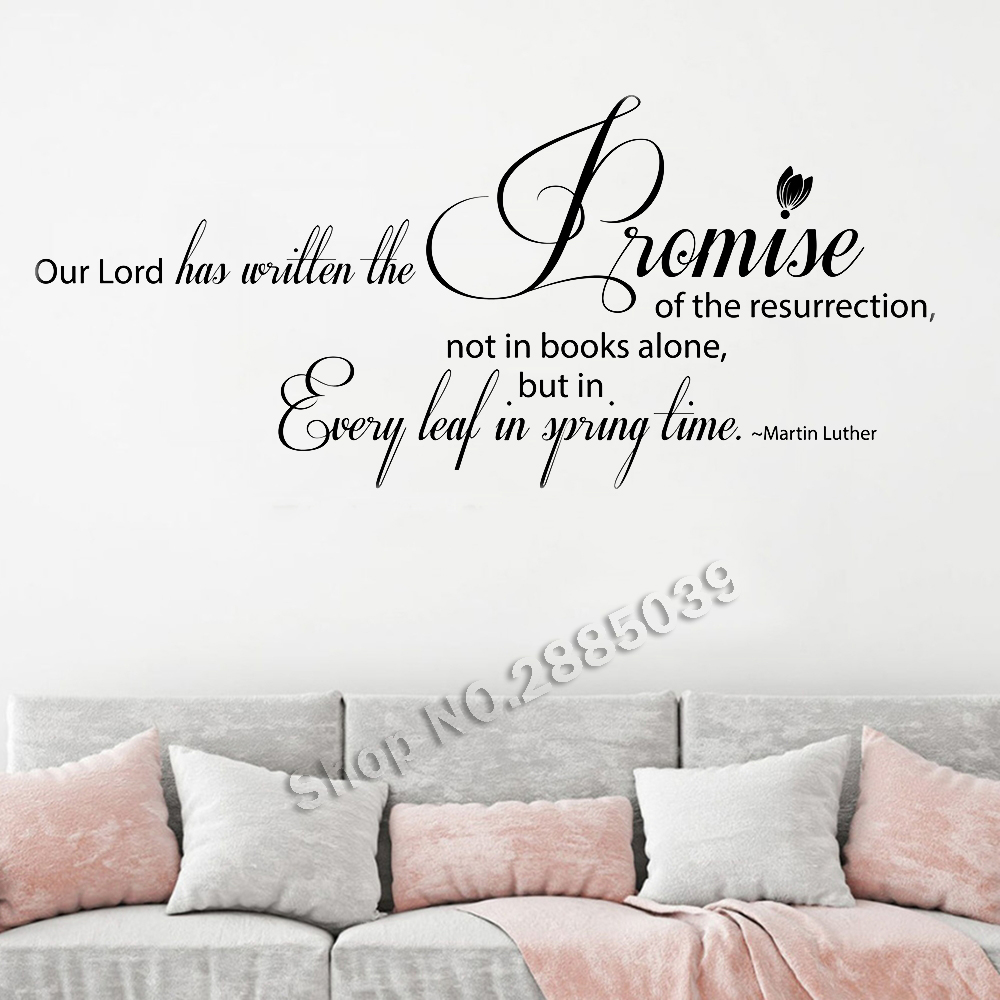 Us 6 97 25 Off Martin Luther Quote Our Lord Has Written Wall Stickers Home Decor Decals Vinyl Art Murals Diy Removable Hot Lc742 In