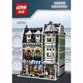 Lepin 15008 2462 Unids Ciudad Calle Creador Verdulería Kits de Edificio Modelo Bloques Ladrillos Compatibles juguetes Educativos 10185