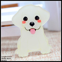 Free shipping 1pcs lovely dog Accessories Fashion cartoon acrylic Brooch Badge Pin Collar brooch Jewelry Gift,Pet cloth,621-1