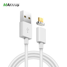 MANTIS Micro USB Magnetic Cable for iPhone XS Max 1M 5V2A Data Charging Mobile Phone Cable for Xiaomi Redmi 4X Magnet Charger(China)