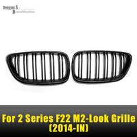 F22 M2 Look Front Kidney Carbon Fiber Grille Grill For BMW 2 Series F23 F87 M2 2 Door 218i 220i 228i M235i 2014 2015