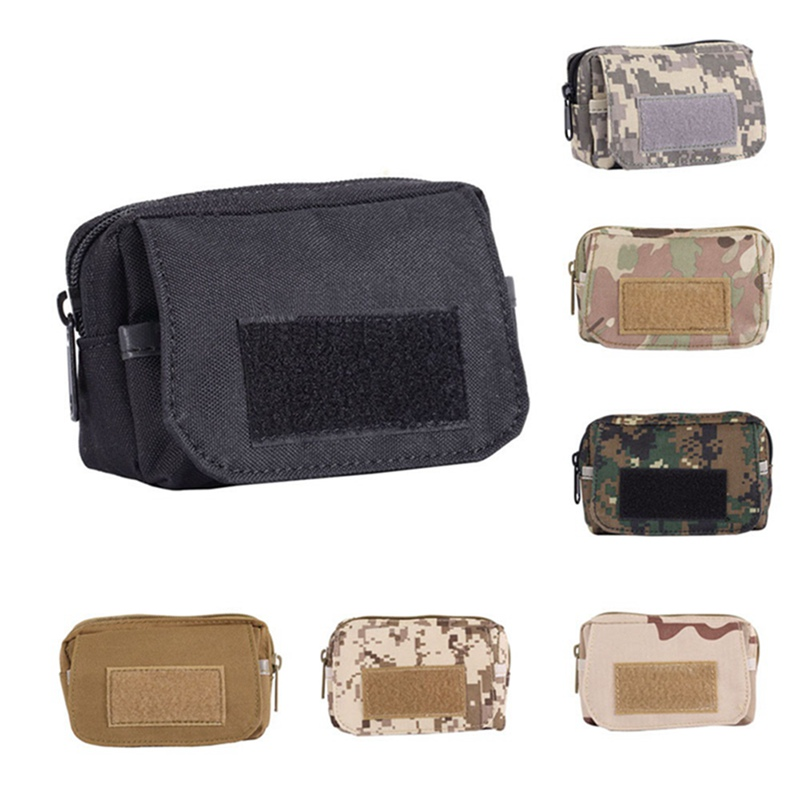 Tactical Utility Pouch Wterproof Outdoor Pocket Mini Molle Pouch Waist Pack Wear-resistant Travel Sports Bag Phone Bag
