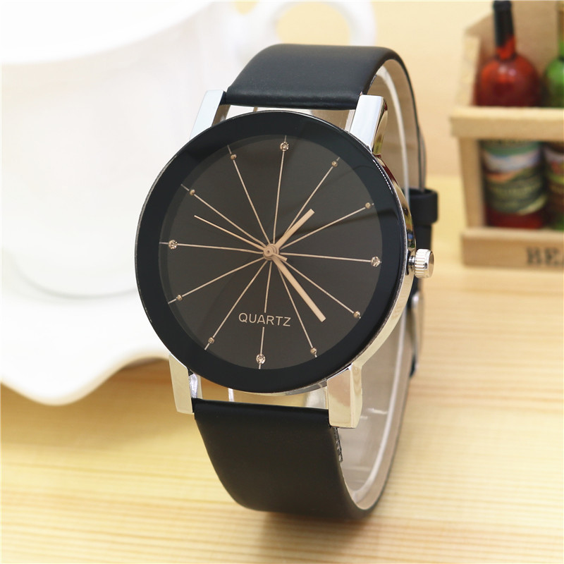 Splendid Watches Men Women Luxury Top Brand Quartz Dial Clock Leather Round Casual Wrist Watch Relogio Masculino 2018 Saat
