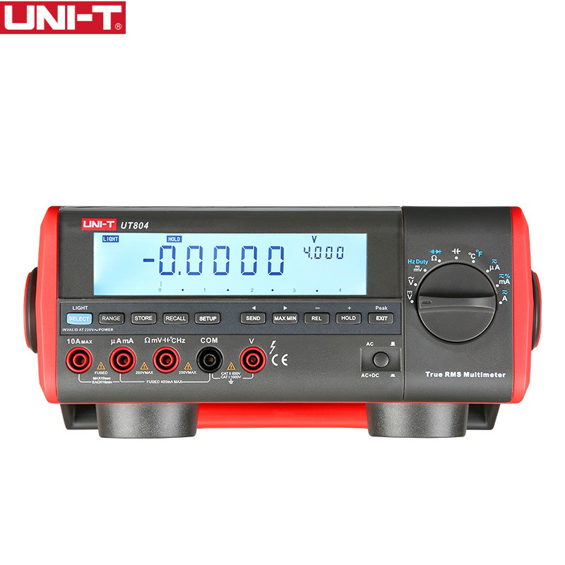 цены UNI-T UT804 LCD Display Bench Type Digital Multimeters Volt Amp Ohm Capacitance Hz 39999 Counts Tester High-Accuracy