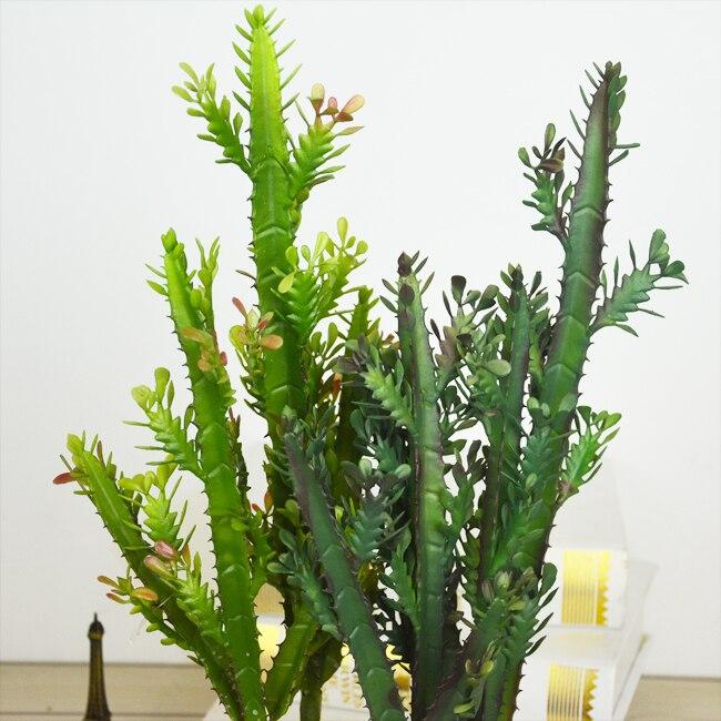 1PCS Artificial Succulents Cactus Green Plants Landscape Plant Simulation Plants Fake Plastic Flowers Home Decoration