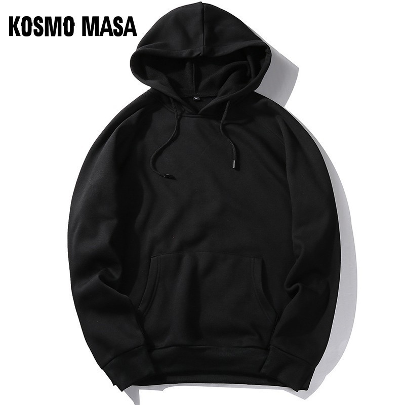 KOSMO MASA Cool Yellow Black Hoodies Men Color Long Sleeves Hoody 2019 Hoodies Sweatshirts Mens Streetwear Hooded For Men MHS066