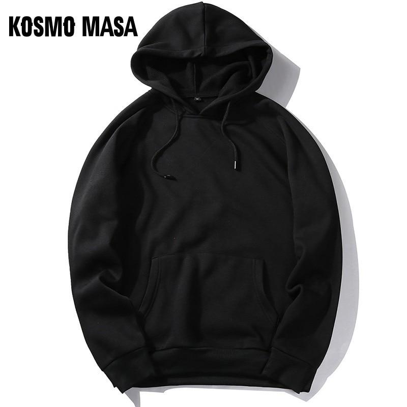 KOSMO MASA Cool Yellow Black Hoodies Men Color Long Sleeves Hoody 2019 Hoodies Sweatshirts Mens Streetwear Hooded For Men MHS066