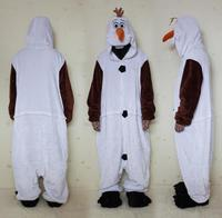 free shipping flannel cosplay Olaf Snowman onesie pajamas because adult men well, party costumes Chritmas Size S M LXL