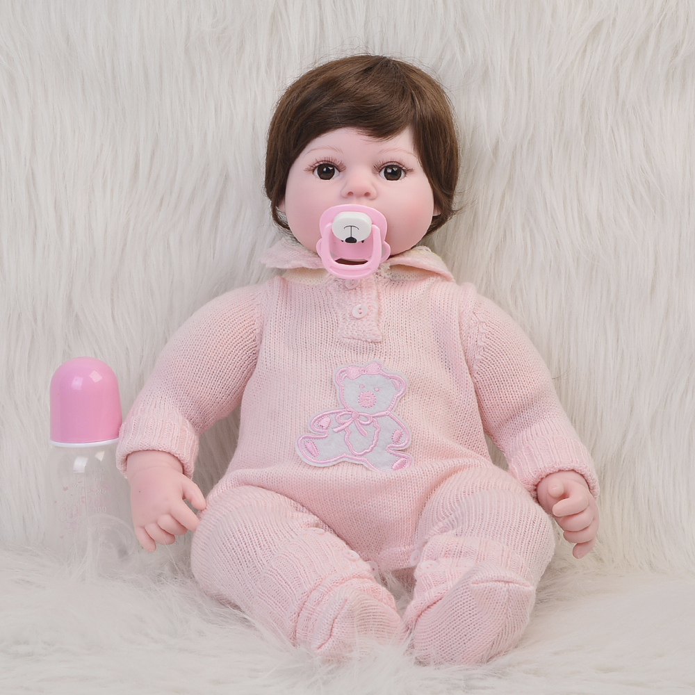 Lifelike 22 inch 55cm Bebe Reborn Doll Silicone Vinyl Baby Toys Newborn Dolls Cloth Body For Cute Kids Birthday Gifts Playmate футболка wearcraft premium slim fit printio triumph motorcycles
