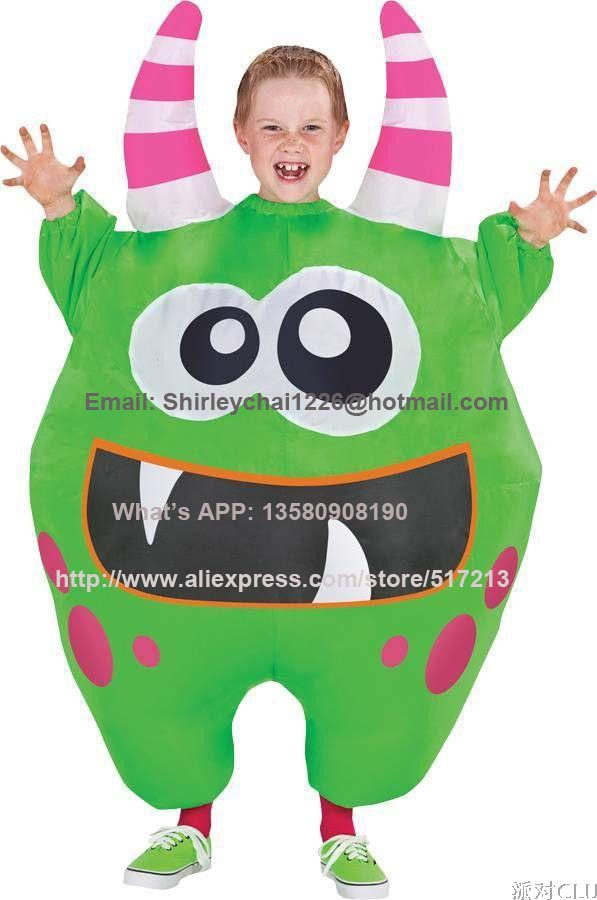 new7 to 13age children green monster inflatable costume halloween costume for kids christmas costumes kids cosplayjpg