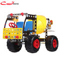 DIY metal toys assembled model of cement car 816B-17 3D three-dimensional puzzle alloy assembly blocks car package mail
