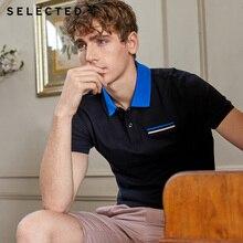 Wybrany męski letni 100% bawełniany kontrastowy kołnierzyk z krótkim rękawem Poloshirt S