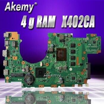 Placa base de ordenador portátil X402CA X502CA con 4 g RAM i3 CPU para For Asus X502C X402C F502C F402C placa base para pruebas de ordenador portátil 100% OK