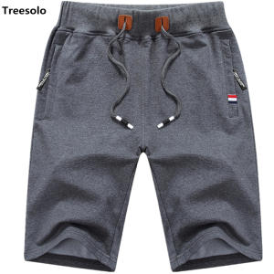 af29d69608 Treesolo Cotton Summer Beach Male Casual Shorts Short men