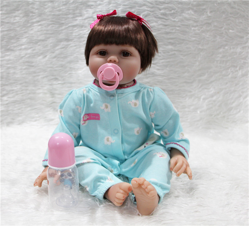 55cm Silicone reborn baby doll toys for girl lifelike reborn babies play house toy kids child gift bonecas reborn menina55cm Silicone reborn baby doll toys for girl lifelike reborn babies play house toy kids child gift bonecas reborn menina