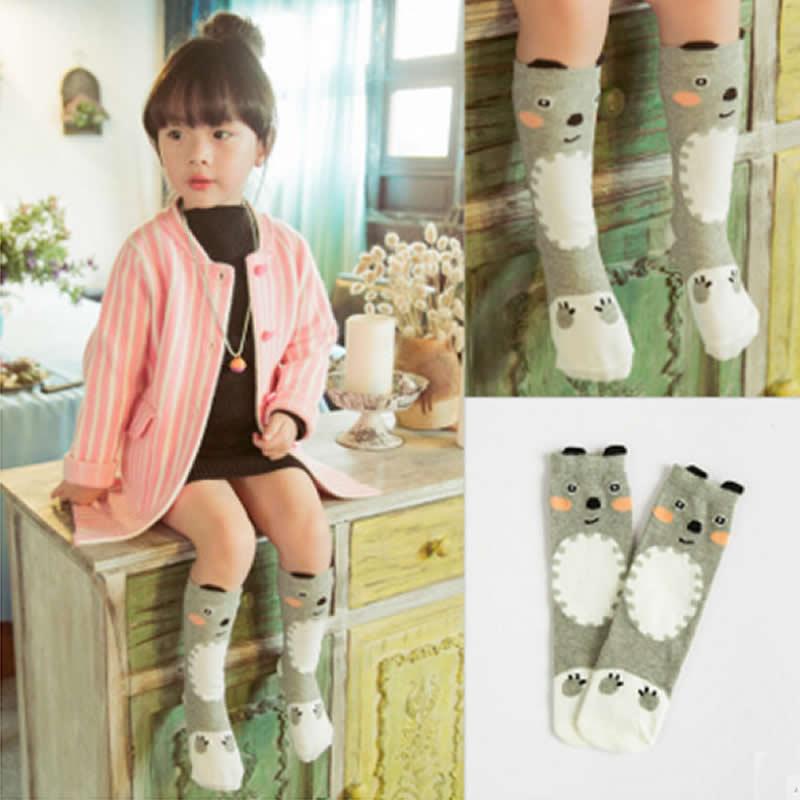 Детские носки для малышей до колена высокие маленьких мальчиков и девочек с