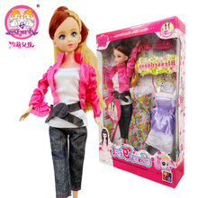 2015 funny Rushed Top dress suit shoes bag for Barbie doll individual gift box bjd doll girl toy baby child gift