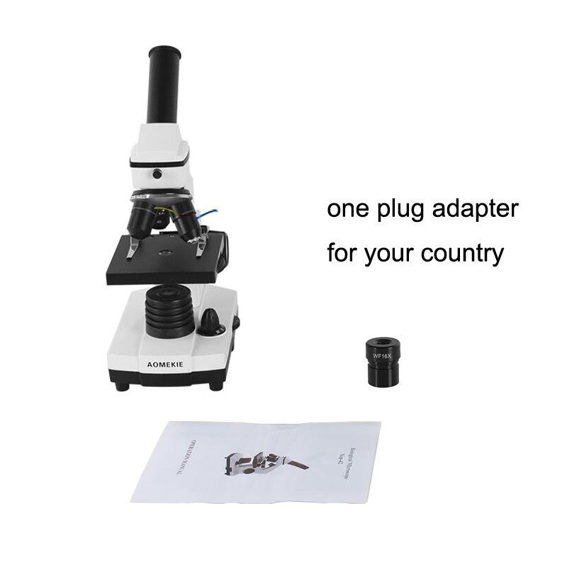Image 5 - AOMEKIE, профессиональный Биологический микроскоп 64X 640X, вверх/снизу, светодиодный, студенческий, научный, образовательный, лабораторный, домашний монокулярный микроскоп, подарок-in Микроскопы from Инструменты