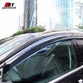 Fumaça Viseira Janela Sombra Ventilação Da Tampa Da Guarnição Para Ford Edge chuva/Sol/Guarda Vento Estilo Do Carro Para Ford Edge 2015 2016 Toldos abrigos